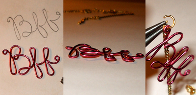 How to make a wire word necklace. Bff Necklace - Step 5