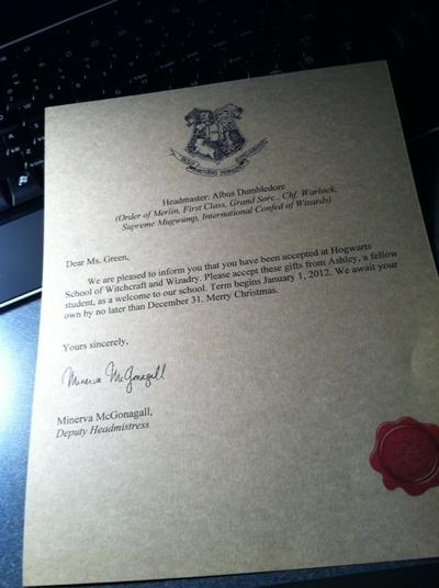 How to make a digital artwork. Harry Potter Hogwarts Acceptance Letter - Step 4