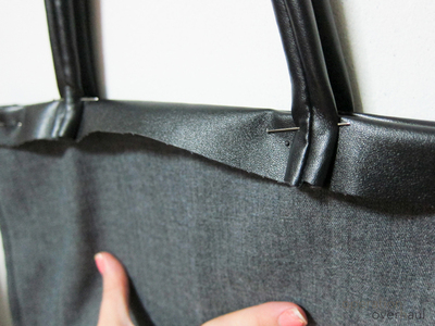 How to sew a leather tote. Every Day Leather Tote - Step 10