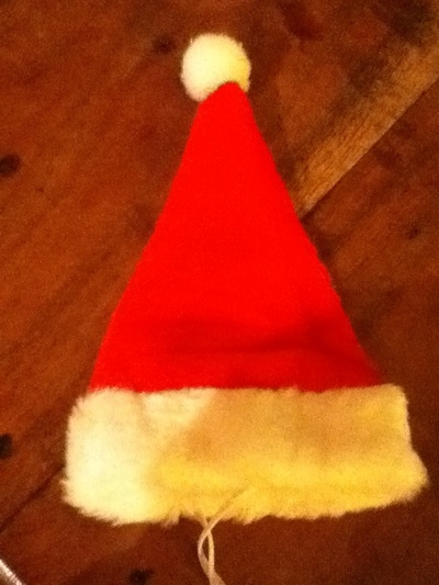 How to make a pet hat. Santa Cat Hat! - Step 10