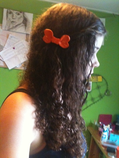 How to make a hair bow. Bow Hair Clip - Step 9