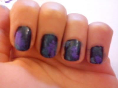 galaxy nails · how to paint patterned nail art · nail