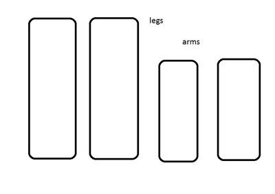 How to make a food plushie. Zombie - Step 1
