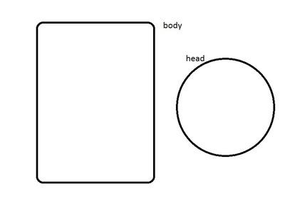 How to make a food plushie. Zombie - Step 2