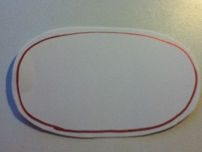 How to make a place card. Christmas Placeholders - Step 3