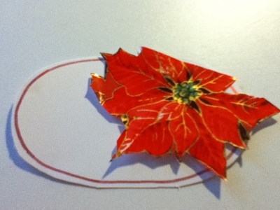 How to make a place card. Christmas Placeholders - Step 5