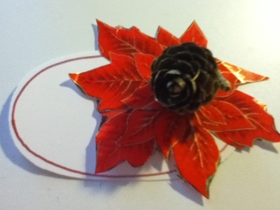 How to make a place card. Christmas Placeholders - Step 6
