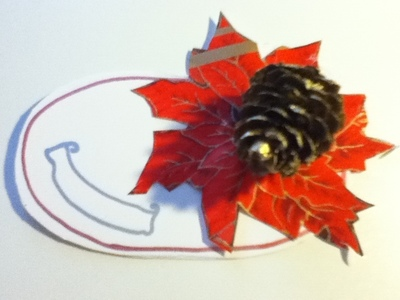 How to make a place card. Christmas Placeholders - Step 7