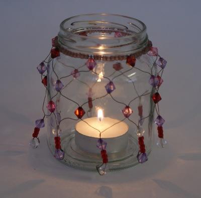 How to make a lantern. Beaded Light - Step 6