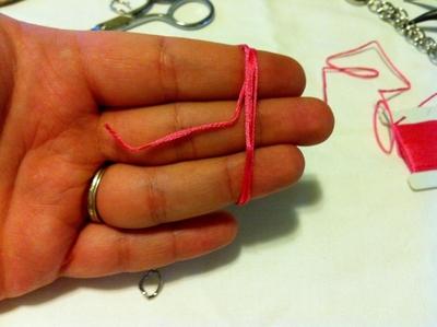 How to make a bracelet. Tassel Charms Bracelet - Step 2