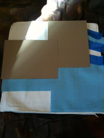 How to make a painted cushion. Watercolor Pillow - Step 1
