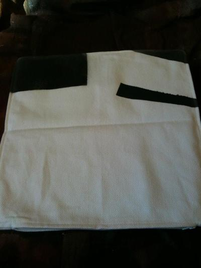 How to make a painted cushion. Watercolor Pillow - Step 2