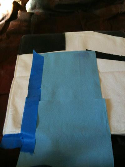 How to make a painted cushion. Watercolor Pillow - Step 3