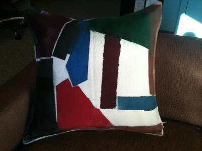 How to make a painted cushion. Watercolor Pillow - Step 5