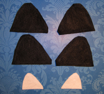 How to make an ear / horn. From Headband To Cat Ears - Step 2