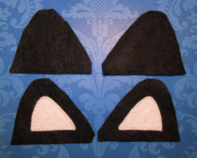 How to make an ear / horn. From Headband To Cat Ears - Step 3