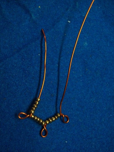 "How to make a pair of chandelier earrings. ""Copperons""  Earrings - Step 6"