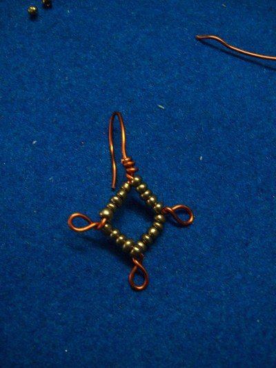"How to make a pair of chandelier earrings. ""Copperons""  Earrings - Step 11"