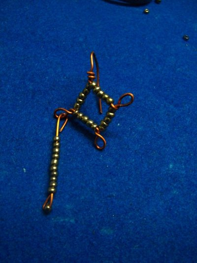 "How to make a pair of chandelier earrings. ""Copperons""  Earrings - Step 15"