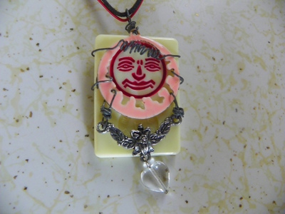 How to make a tile pendant. Rummikub Necklace - Step 2