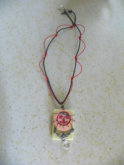 How to make a tile pendant. Rummikub Necklace - Step 3