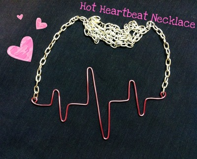 How to make a wire necklace. Hot Heartbeat Necklace - Step 1