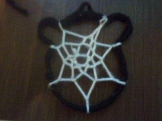 How to make a dream catcher pendant. Bear Dreamcatcher Necklace - Step 14