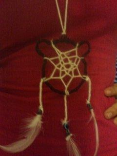 How to make a dream catcher pendant. Bear Dreamcatcher Necklace - Step 23