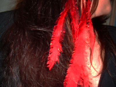 How to make a feather hair clip. Faux Cruelty Free Fabric Feather Hair Extensions - Step 6