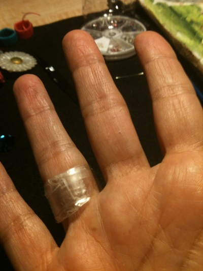 How to make a recycled ring. Bottled Water Ring Tutorial - Step 4