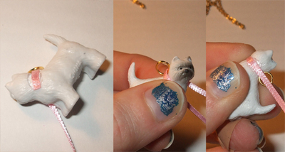 """How to make a toy necklace. And Mary's """"What's The Story, Winston?"""" Necklace - Step 3"""