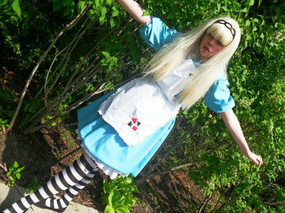 How to make an chracter costume. Alice In Wonderland Dress - Step 10