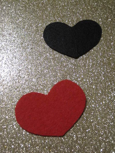 How to make an eye patch. Black Heart Valentine Eyepatch!  - Step 1