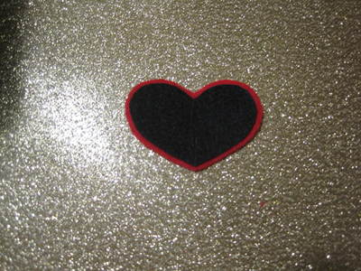 How to make an eye patch. Black Heart Valentine Eyepatch!  - Step 4