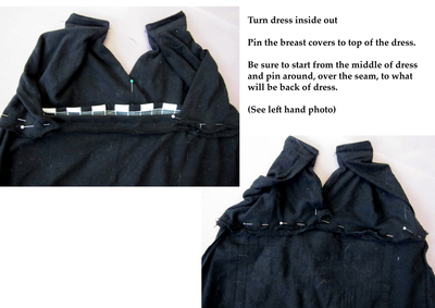 How to sew a t-shirt dress. T Shirt Halter Dress - Step 6