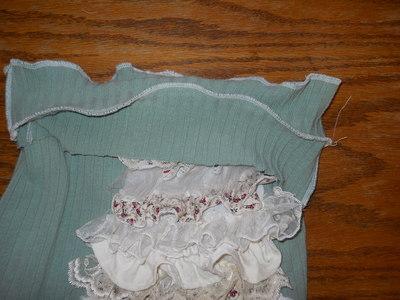 How to sew a ruffle skirt. Ruffle Bustle Skirt - Step 19
