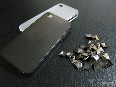 How to make a phone case. Studded Phone Case - Step 1
