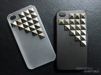 How to make a phone case. Studded Phone Case - Step 3