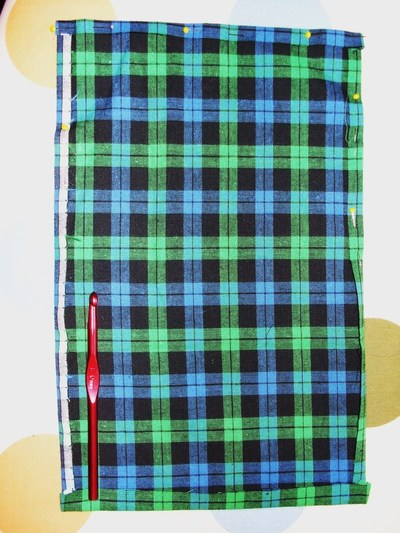 How to sew a roll-up pouch. Crochet Hook Case - Step 1