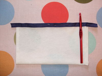 How to sew a roll-up pouch. Crochet Hook Case - Step 5