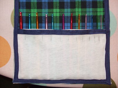 How to sew a roll-up pouch. Crochet Hook Case - Step 9