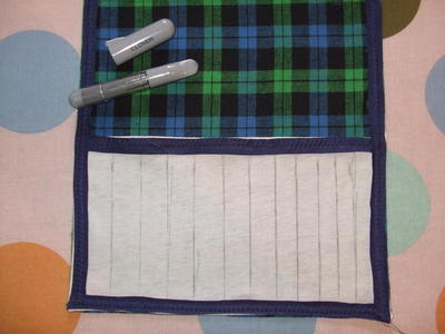 How to sew a roll-up pouch. Crochet Hook Case - Step 10