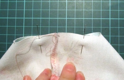 How to make a washbag. Oil Cloth Washbag - Step 8