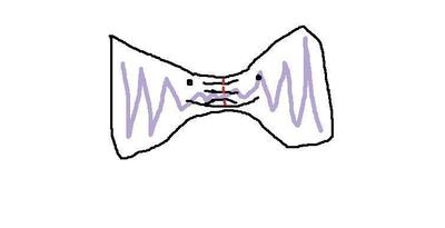 How to make a bow tie. Bow Tie Necklace - Step 6
