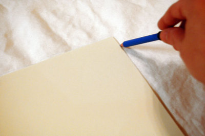 How to make a painted cushion. Just My Type Pillow - Step 1