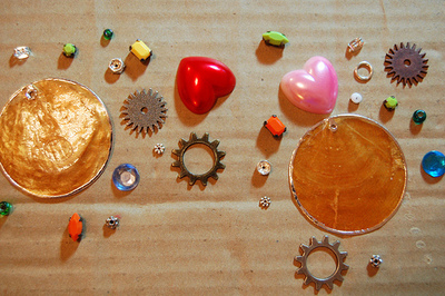 How to make a pair of hardware earrings. J'adore Junk Earrings - Step 2