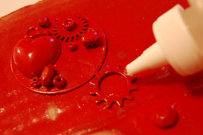 How to make a pair of hardware earrings. J'adore Junk Earrings - Step 4