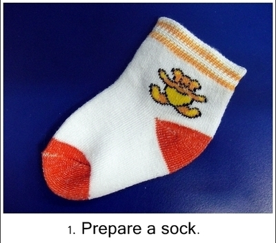 How to make a bird plushie. Owl Sock Doll - Step 1