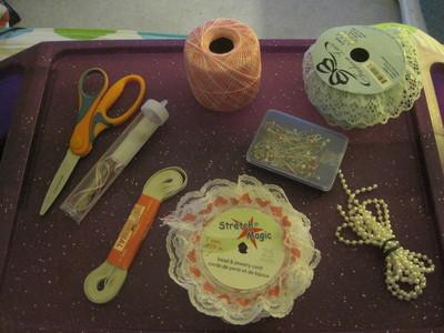How to make a lace cuff. Fairy Kei Cufflets. - Step 1