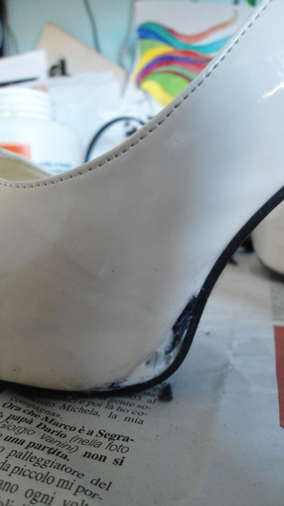How to paint a pair of painted shoes. Pimp My Heels - Step 2
